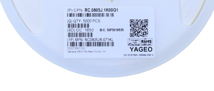 RC0805JR-071KL Thick Film Resistors by Yageo